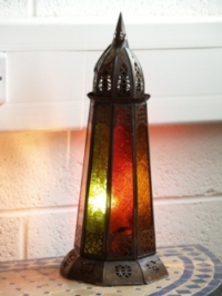 Moroccan Candle Lantern - CL37 Multi