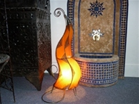 Moroccan Henna Lamp - HLF5 Amber
