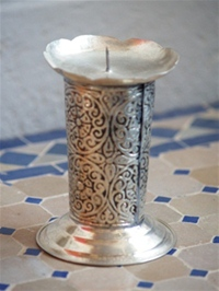 Moroccan Silver Candle Holder - SCH