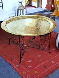 Large Moroccan Tea Tray Table - IL79