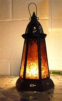 Moroccan Candle Lantern - CL12 Amber