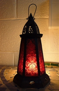 Moroccan Candle Lantern - CL12 Red