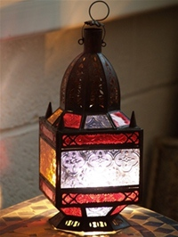 Moroccan Candle Lantern - CL21 Multi