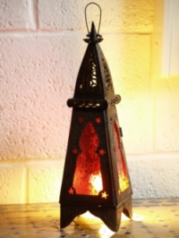 Moroccan Candle Lantern - CL26 Red