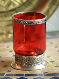 Moroccan Red Candle Holder - CL29 Red