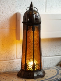 Moroccan Candle Lantern - CL39 Amber