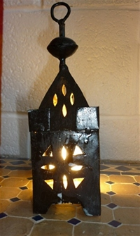 moroccan iron tea light candle holder.