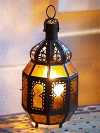 Moroccan Candle Lantern - CL8 Amber