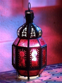 Moroccan Candle Lantern - CL8 Red