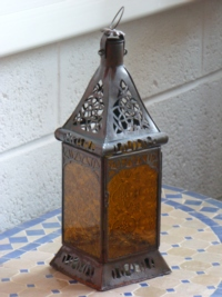 Moroccan Candle Lantern - CL11 Amber