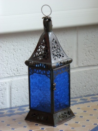 Moroccan Candle Lantern - CL11 Blue