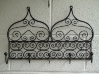 moroccan iron coat rack.