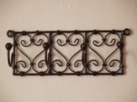 handmade moroccan iron coat hook rack.