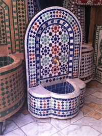 Moroccan Mosaic Fountain - Size 3