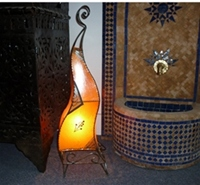 Moroccan Henna Lamp - HLF1 Amber