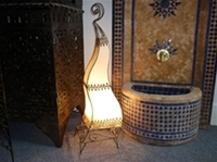 Moroccan Henna Lamp - HLF1 Natural