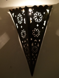 large moroccan iron wall light.