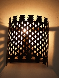 moroccan iron wall light.