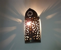 moroccan iron wall lightshade.
