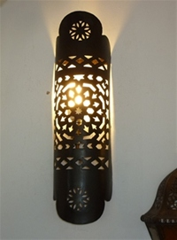 moroccan iron wall lamp.