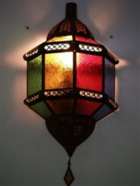 Moroccan Glass Wall Lamp - WGL3 Multi