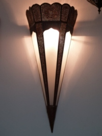 Moroccan Glass Wall Lamp - WGL6L