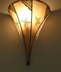moroccan henna wall lamp with henna design