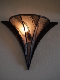Moroccan Henna Wall Lamp - WHL1 - Natural