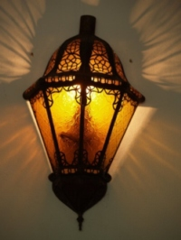 Moroccan Glass Wall Lamp - WGL8 Amber