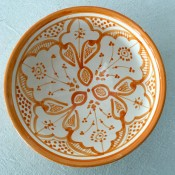 authentic moroccan safi ceramic pottery bowl