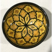 moroccan safi ceramic bowl - yellow