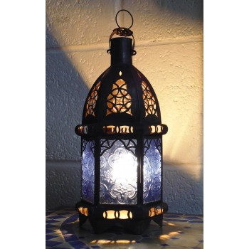 Moroccan Candle Lantern - CL13 Blue
