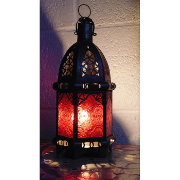 Moroccan Candle Lantern - CL13 Red