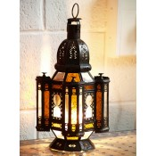 Moroccan Candle Lantern - CL15 Amber 2
