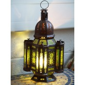 Moroccan Candle Lantern - CL15 Green