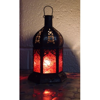 Moroccan Candle Lantern - CL20 Red
