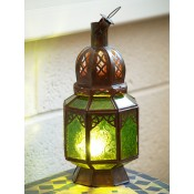 Moroccan Candle Lantern - CL28 Green