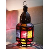 moroccan candle lantern - cl33 multi