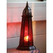 Moroccan Candle Lantern - CL37 Red