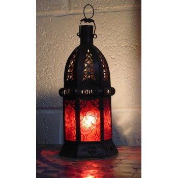 Moroccan Candle Lantern - CL5 Red