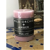 Scented Pillar Candle - Wild Orchid & Amber