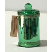 moroccan amber scented candle in green coloured holder