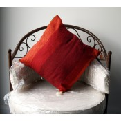 moroccan cushion - orange