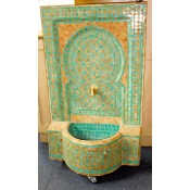 Moroccan Mosaic Fountain - Green