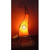 Moroccan Henna Lamp - HLF12 Amber