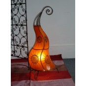 Moroccan Henna Lamp - HLF6 Amber