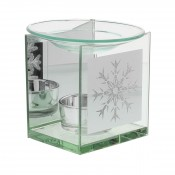 Glass Oil Burner - Snowflake Design