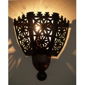 moroccan metal wall lightshade