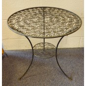 Moroccan Metal Fretwork Table - S2