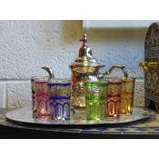 moroccan tea set 2 silver